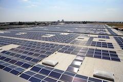 Europas größte Solardachanlage in Mannheim in Betrieb genommen_Aufdachanlage_Heddesheim