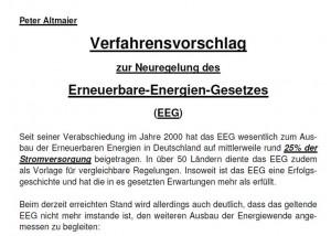 Erneuerbare-Energien-Gesetz Alle Details zu Altmaiers EEG-Reform_Grafik_BMU