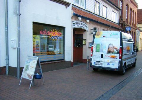 Das erste Ladenlokal in der Einkaufsstraße in Eckernförde.