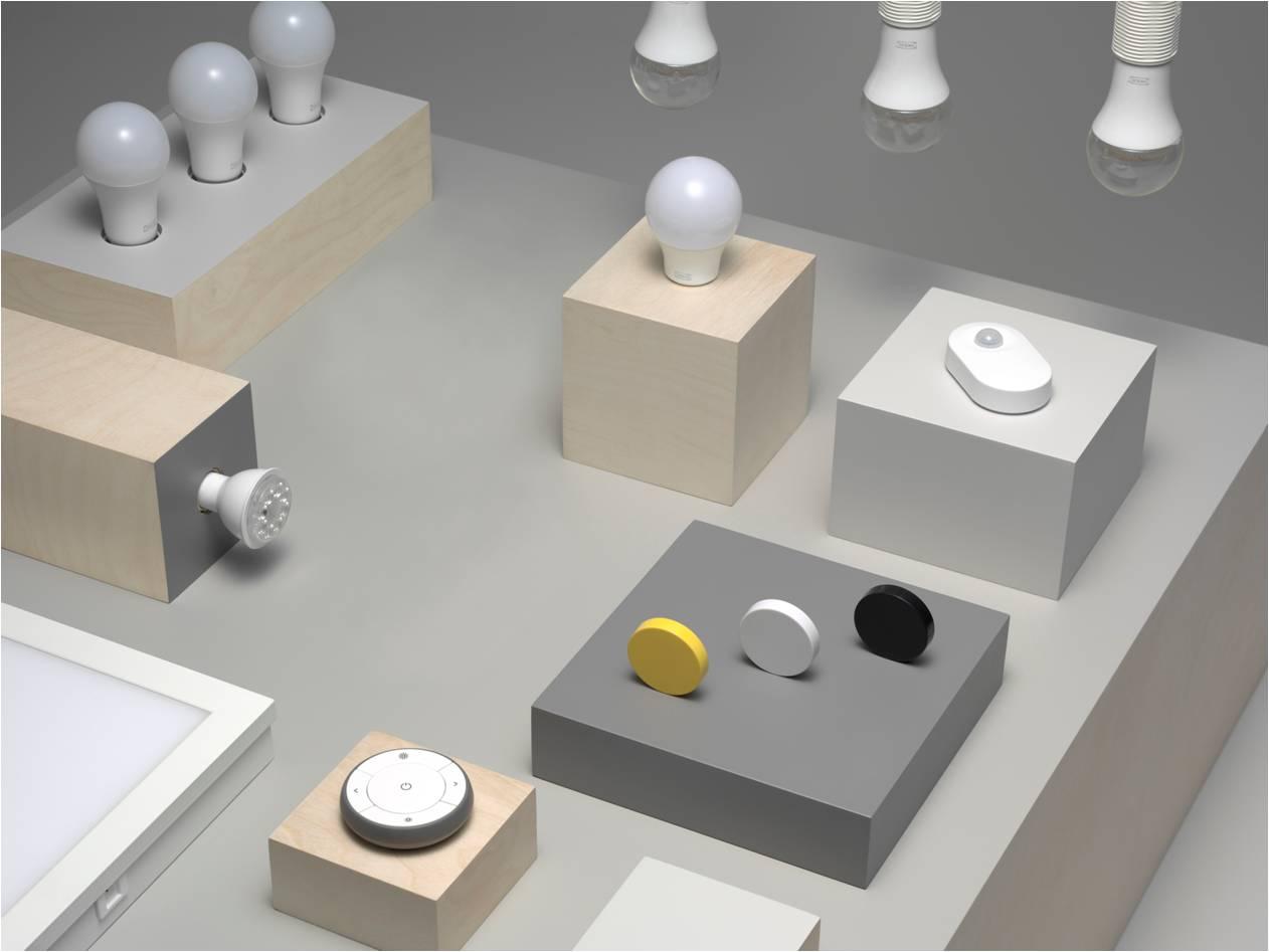 Sortiment des IKEA TRÅDFRI LED-Lichtsystems (Foto: IKEA Deutschland GmbH & Co. KG)