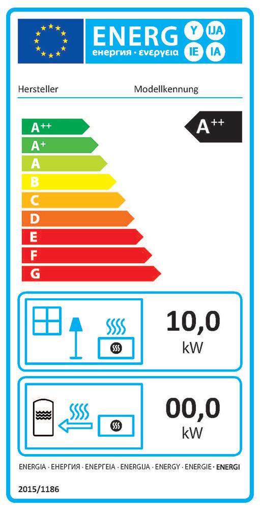 Pelletkaminöfen erreichen in der Regel die beste Effizienzklasse A++ | Bildquelle: © Deutsches Pelletinstitut GmbH