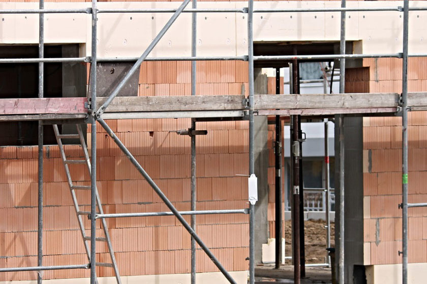 Hausbau, Fassadenansicht