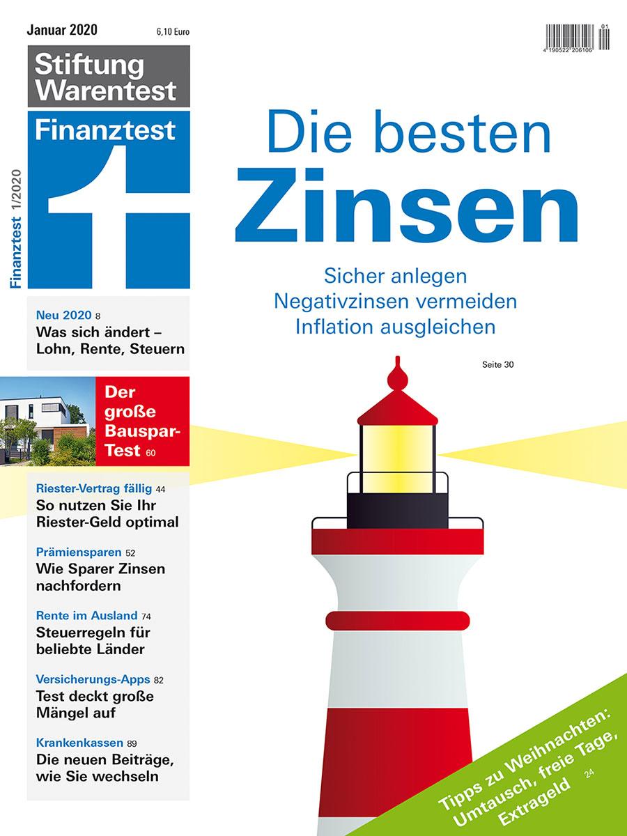 In Ihrer Januarausgabe der Zeitschrift Finanztest hat Stiftung Warentest 16 Bausparkassen und ihre Beratungsleistung genauer unter die Lupe genommen. | Bildquelle: © Stiftung Warentest