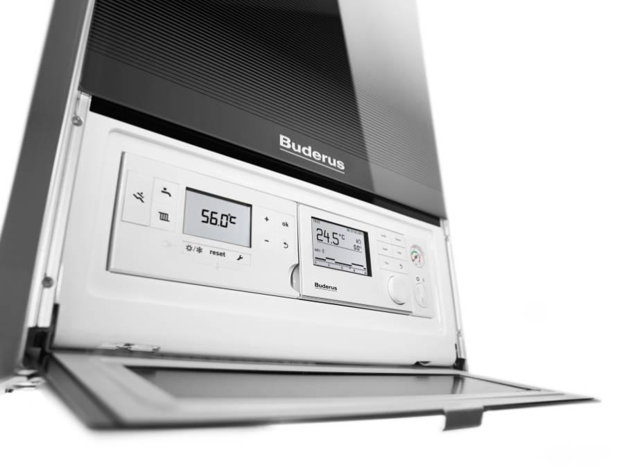 Das neue Gas-Brennwertgerät Logamax plus GB182i liefert zuverlässig Wärme für Heizung und Warmwasser und überzeugt zudem mit einem wartungsfreundlich strukturierten Innenaufbau. Quelle: Buderus