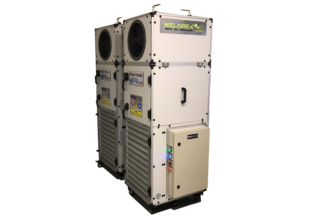Die mobile modulare HEPA-Lüftereinheit von Johnson Controls minimiert luftübertragene Krankheitserreger in Gebäuden. (Bild: Johnson Controls)
