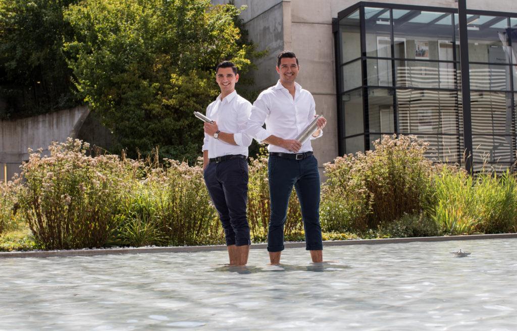 Maximilian und Konstantin Wilk (Foto: AQON Water Solutions GmbH)