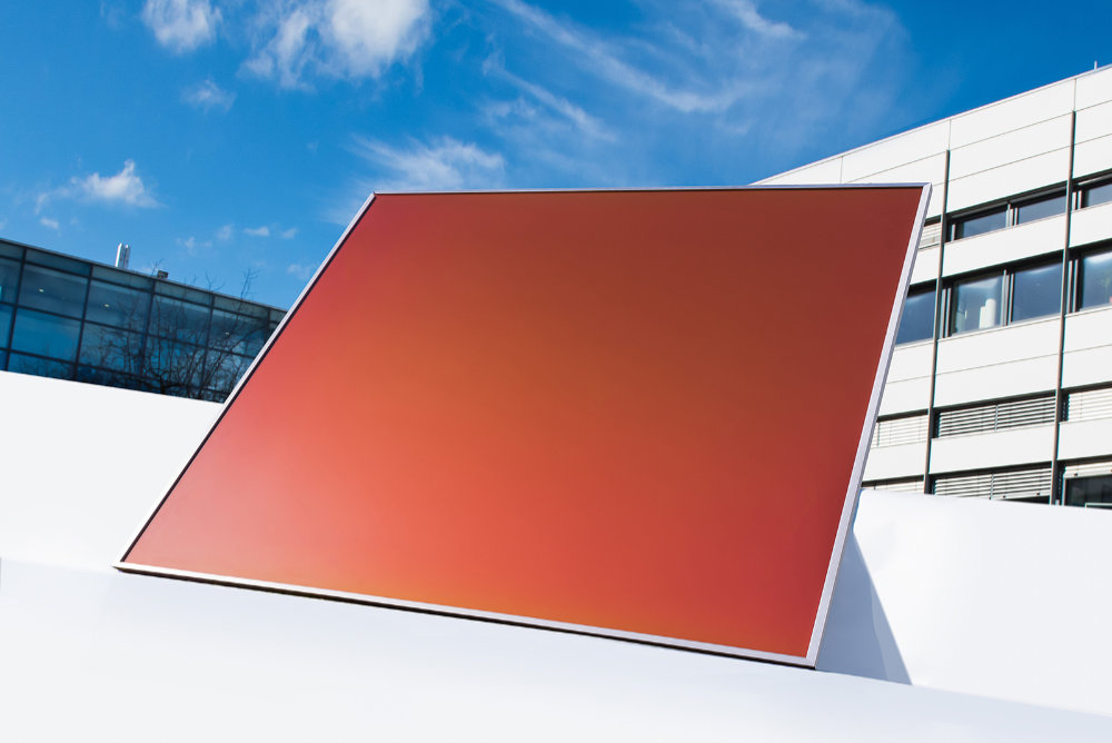 Farbiges Solarmodul